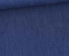 Baumwolle - Webware - Jeansoptik - Uni - Blau