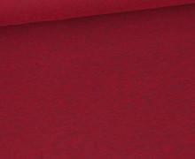 Jersey - Dunkel Meliert  - 150cm - Weinrot