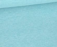 Jersey Smutje - Hell Meliert  - 150cm - Türkis