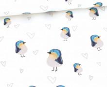 Sommersweat - Early Bird - Blau - Weiß - Bio Qualität - Mi Reina Bella - abby and me