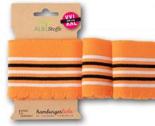 Bio-Bündchen - Wave - Wellenrand - 5 Stripes - Orient Oxident - Multi - Cuff Me - Hamburger Liebe - Orange