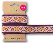 Streifenband - Stripe Me - Icon - Indianisches Muster - Orient Oxident - Multi - Hamburger Liebe - Babyrosa/Bordeaux