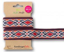 Streifenband - Stripe Me - Icon - Indianisches Muster - Orient Oxident - Multi - Hamburger Liebe - Orange/Bordeaux