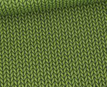 Bio-Elastic Minijacquard Jersey - 3D - Big Knit - Orient Oxident - Hamburger Liebe - Maigrün