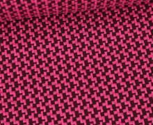 Bio-Elastic Minijacquard Jersey - 3D - Brick Knit - Orient Oxident - Hamburger Liebe - Pink