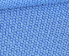 Bio-Elastic Minijacquard Jersey - 3D - Rope Knit - Orient Oxident - Hamburger Liebe - Himmelblau