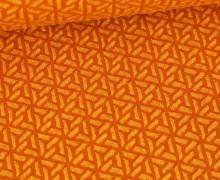 Bio-Elastic Minijacquard Jersey - 3D - Mira Knit - Orient Oxident - Hamburger Liebe - Orange