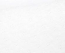 Musselin - Muslin - Uni - Loch-Stickerei - Floral - Double Gauze - 165gr - Schnuffeltuch - Windeltuch - Weiß