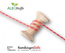 Flechtkordel - Slim - Orient Oxident - Multi - Hamburger Liebe - Rostorange/Senfgelb/Pink