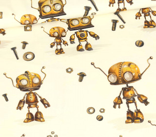 Sommersweat - Crazy Roboter Rusty - Ecru - Bio Qualität - Zajaz - abby and me