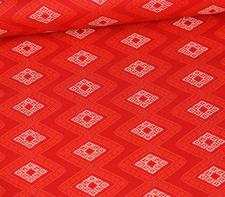 Baumwolle - Webware - Cozy & Joyful - Dot Diamonds - Rot