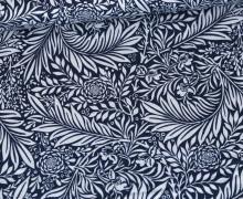 Baumwolle - Webware - Sense Of Harmony - Meerblau - Leaf Pattern - Gütermann
