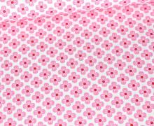 Baumwolle - Webware - Poplin - Sweet Blossoms - Weiß