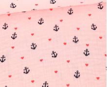 Musselin – Muslin – Anchor Love – Double Gauze – 120gr – Schnuffeltuch – Windeltuch – Babyrosa