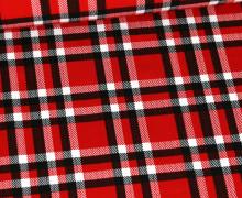 Jersey - Schottenkaro - Kariert - Rot