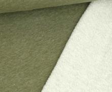 Teddysweat - Meliert -  Olivgrün