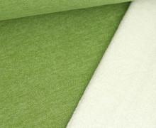 Teddysweat - Meliert -  Maigrün