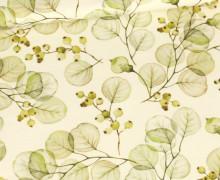 Sommersweat - Ecru - Bio Qualität - Blättertraum - Grün - abby and me