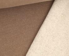 Kuschelsweat - Melange - 370g - Braun