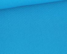 Canvas Stoff - feste Baumwolle - 265g - Uni - Cyanblau