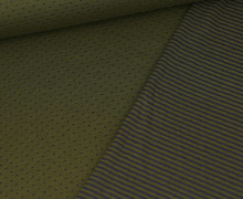 Jersey - Doubleface - Punkte - Streifen - Olivegrün