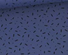 Jersey - Punkte - Kurze Striche - Blau