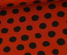 Jersey - Punkte - Große Schwarze Punkte - Rostorange