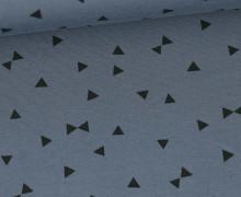 Jersey - Schwarze kleine Dreiecke - Grau