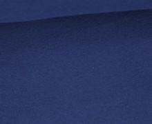 Bio-Baumwoll Fleece - Uni - 320g - Stahlblau