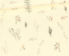 Sommersweat - Forest Love - Kombi - Pflanzen - Ecru - Bio Qualität - abby and me