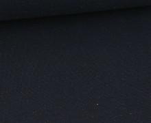 WOW Angebot Bündchen - Uni - Glitzer - Nachtblau/Regenbogen