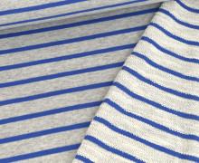Sweat - Streifen - Meliert - Hellgrau/Blau