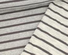 Sweat - Streifen - Meliert - Hellgrau/Grau