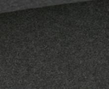 Baumwoll-Fleece - Meliert - 290g - Dunkelgrau