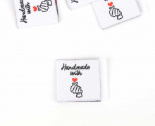 1 Label - Handmade with love - Weiß