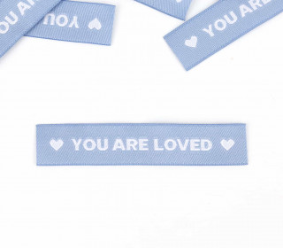 1 Label – YOU ARE LOVED – Taubenblau