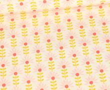 Beschichtete Baumwolle - Floral Fantasy - Warmweiß