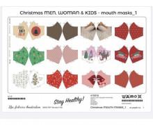 Behelfsmaskenstoff - Zum Selber Nähen - 12 Motive - Winter/Weihnachten 1