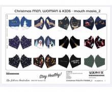 Behelfsmaskenstoff - Zum Selber Nähen - 12 Motive - Winter/Weihnachten 2