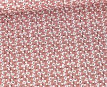 Baumwolle - Webware - Flamingo - Altrose