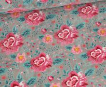 Nicky - Nicki - Romantic Flowers - Grau