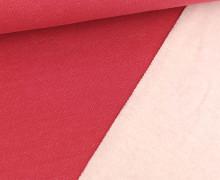Jacquard-Sweat – Uni – Erdbeerrot