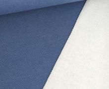 Jacquard-Sweat - Uni - Jeansblau