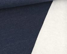 Jacquard-Sweat - Uni - Stahlblau
