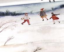 Sommersweat - Winter Is Here - Weihnachten - Paneel - Weiß - Bio Qualität - abby and me