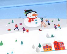 Sommersweat - Winterzeit - Schneevergnügen - Weihnachten - Paneel - Weiß - Bio Qualität - abby and me