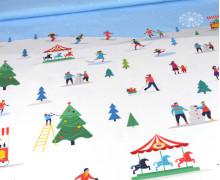 Sommersweat - Winterzeit - Schneespaß - Weihnachten - Paneel - Weiß - Bio Qualität - abby and me