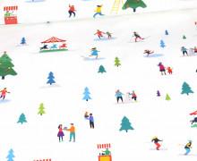Sommersweat - Winterzeit - Schneelandschaft - Weihnachten - Paneel - Weiß - Bio Qualität - abby and me