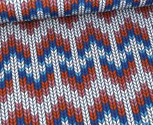 Antimikrobieller Jersey – SHIELD – Behelf-Mund-Nasen-Schutz – Hamburger Liebe – Granny Winter Knit – Weiß
