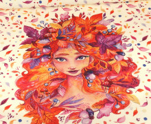 Sommersweat - Herbstfee - Paneel - Ecru - Bio Qualität - Wildblume - abby and me
